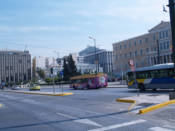 you can see Mt Lykavvitos from Syntagma Sq