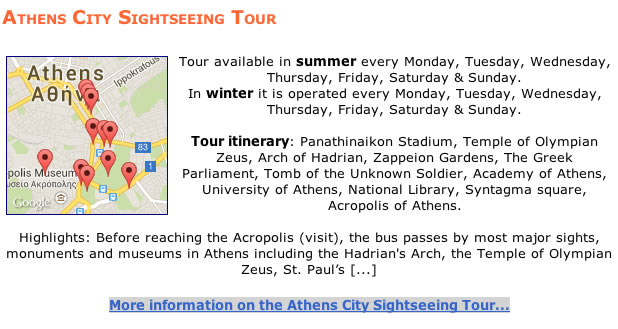 athens city site seeing tour